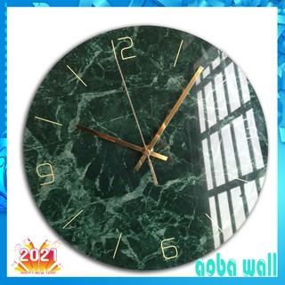 Đồng hồ treo tường kim trôi AOBA-003 MẶT CẨM THẠCH