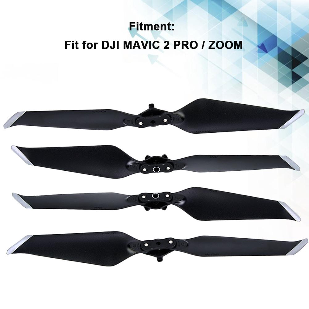 Caoyuanstore Idalinya 2 Pairs Noise Reducing Quick Release Propeller Spare Parts Fits For Dji M avic 2 Pro / Zoom