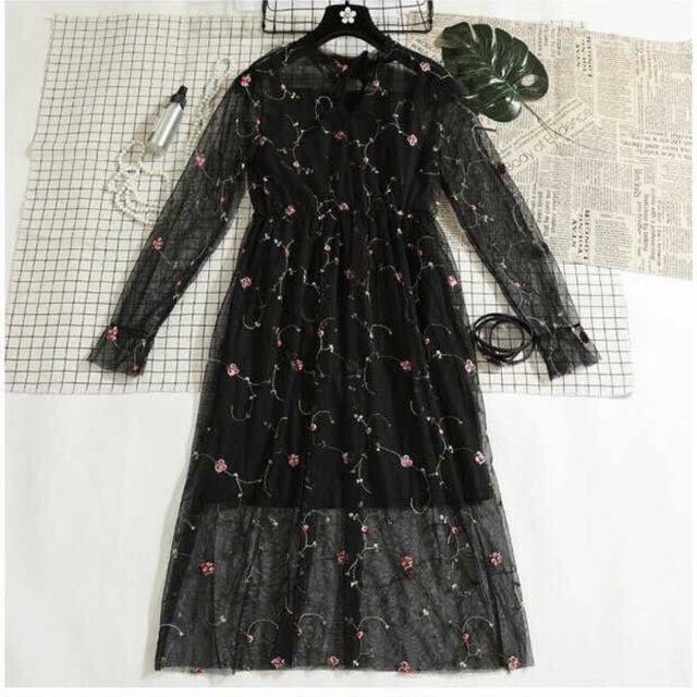 Đầm hoa pha ren nữ