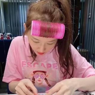 Lô cuốn tóc tự dính Hàn Quốc lõi nhôm 12 cm siêu to dài thumbnail