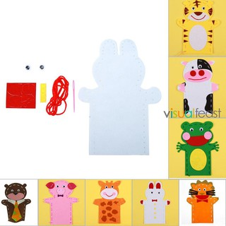 😉[Ready Stock/COD]😉DIY Crafts Non-Woven Cloth Animal Hand Puppet Kids Child Sewing Toys