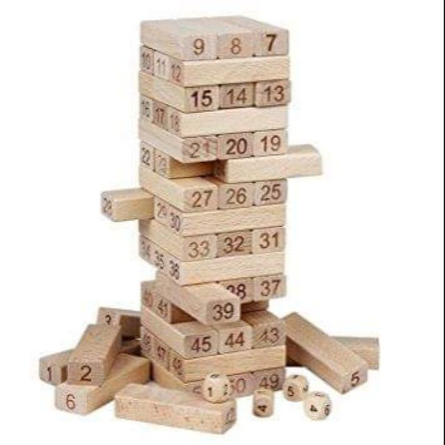 bộ đồ chơi rút gỗ toán học