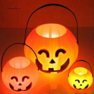 Giỏ bí Halloween, có đèn và không đèn ( loại giỏ liền)