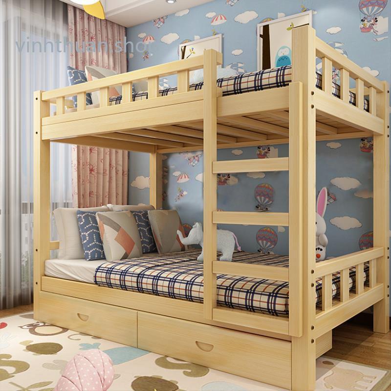 Giường tầng gỗ chất lượng cao giường tầng trẻ em người lớn 190*90*160cm (có ngăn kéo) vinhthuan.shop
