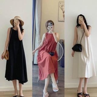 [Mã SKAMSALE8 giảm 10% đơn 200K] Váy Maxy Đũi 3 Lỗ Siêu Mát From Rộng Bầu Bí Bon Chen Tới 68Kg