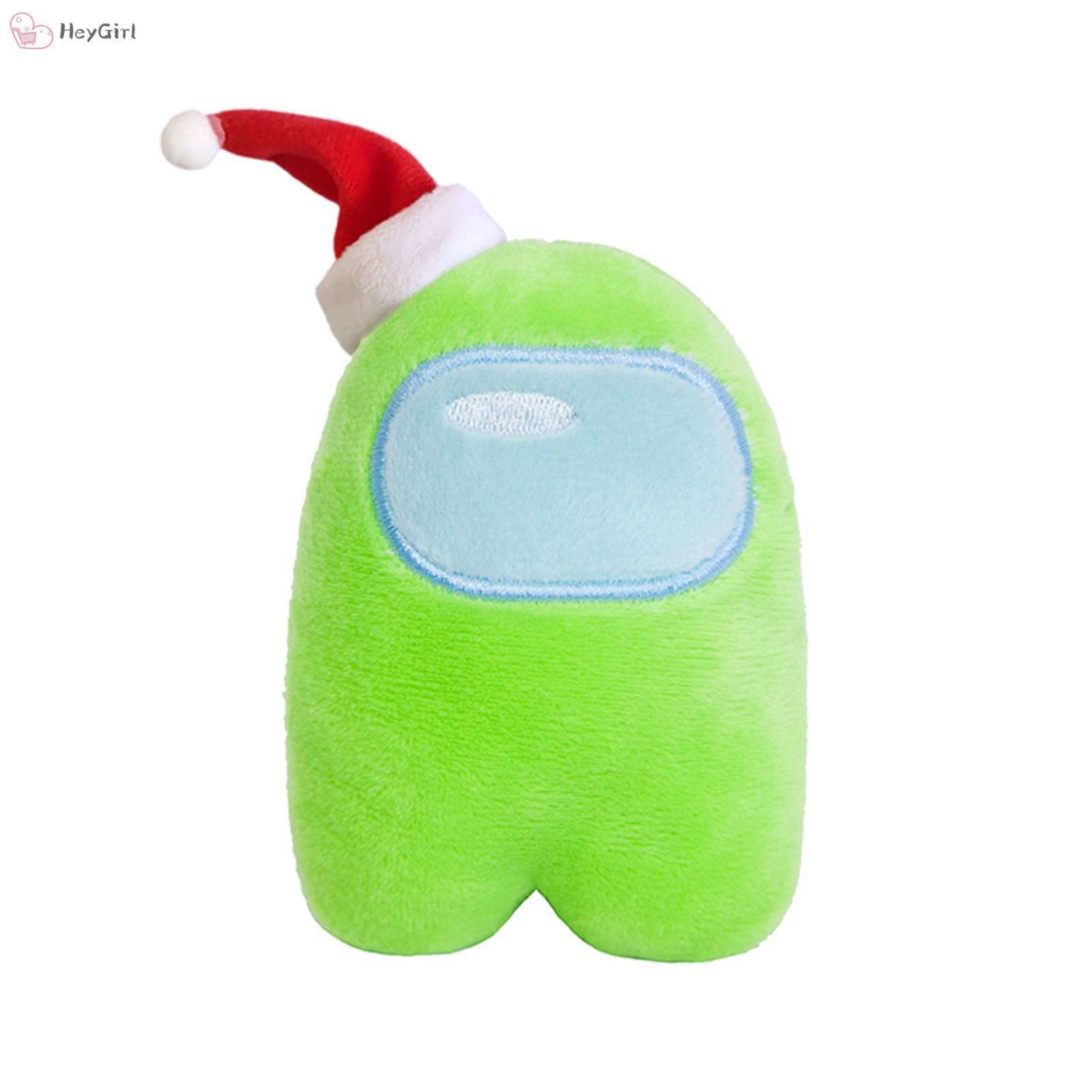 Xmas Hat Figure Among Us Plush Crewmate Plushie Kawaii Stuffed Soft Game Plush Toy Lovely Stuffed Doll Christmas Gift
