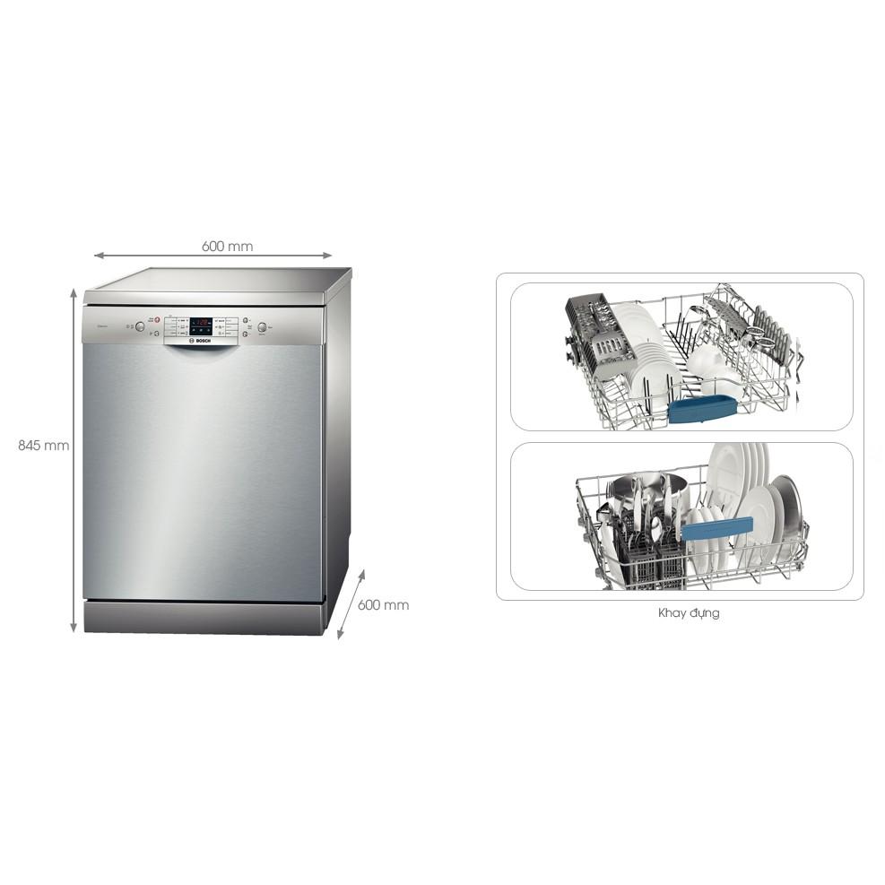 Máy rửa chén bát Bosch SMS63L08EA