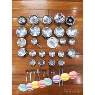 Bộ đồ chơi inox nấu bếp 40 chi tiết cho bé yêu