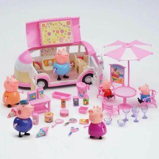 Đồ chơi Gia đình heo Peppa Pig đi ô tô dã ngoại