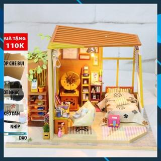 Mô hình nhà búp bê gỗ DIY Nhà búp bê lắp ghép Em là Ai S03 Toy World thumbnail