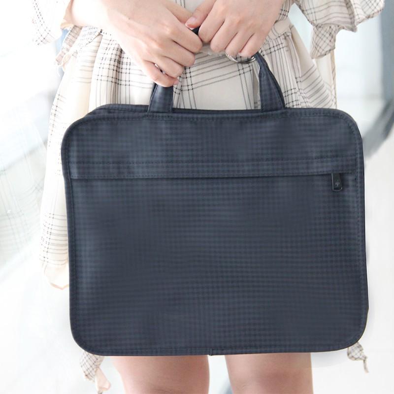 GAOSHANG ถุงผ้าใบซิป A4 กระเป๋าแฟ้มพกพาคู่ถุงซิปกระเป๋าเต็มเปิดไฟล์ถุงข้อมูลกระเ