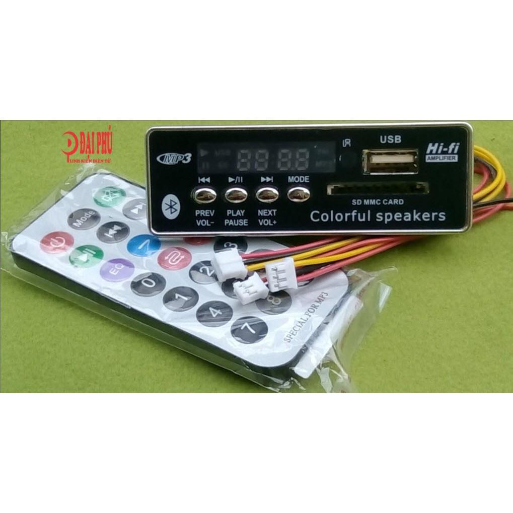 Mạch giảimã MP3 Bluetooth 12V