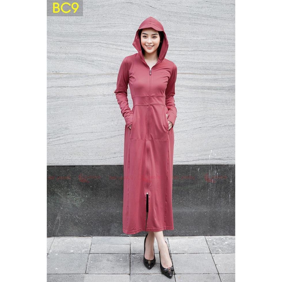 Bộ áo choàng chống nắng Nữ liền thân - Thun Lạnh cao cấp