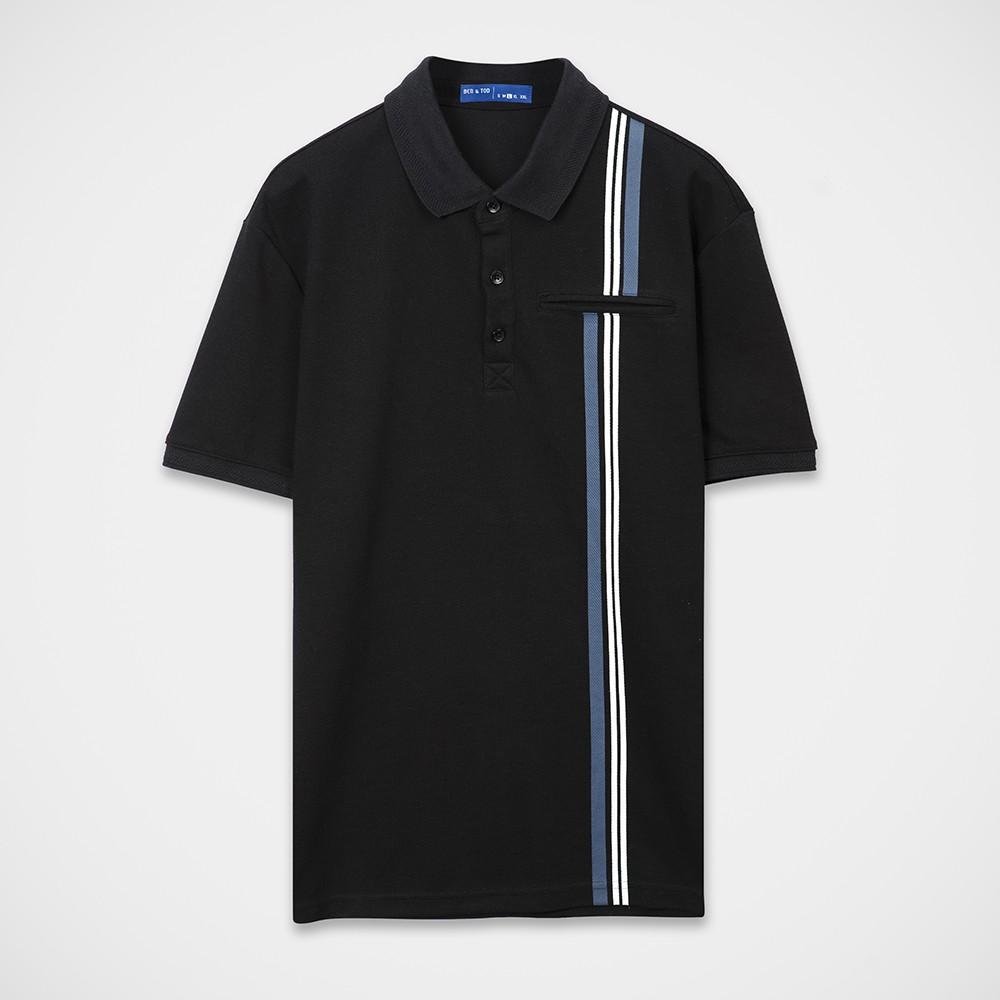 Ben & Tod - Áo thun tay ngắn có cổ Stripe Polo Tees 21272