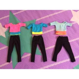 Quần áo barbie yoga chính hãng hoặc bup bê có cùng size với barbie