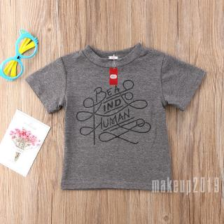 Mu♫-Newborn Boy BEA Short-Sleeved T-Shirt Grey