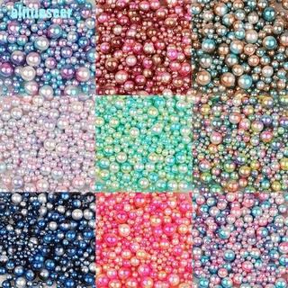 Set 250 Hạt Ngọc Trai Giả Nhiều Màu Sắc Kích Cỡ 4 / 6 / 8 / 10mm Dùng Làm Đồ Trang Sức