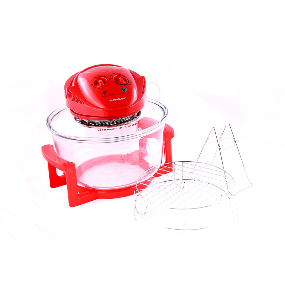 Lò nướng thủy tinh 12 lít Sunhouse SH416 đỏ - ChoBaDao