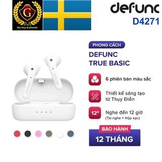 Tai Nghe True Wireless DEFUNC True Basic, Bluetooth 5.0, Cảm Ứng, Kháng Nước IPX4, Hộp sạc nghe đến 12H, Bảo hành 12T thumbnail