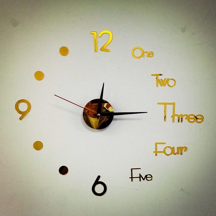 Đồng hồ dán tường độc đáo trang trí nhà cửa (DHD40)