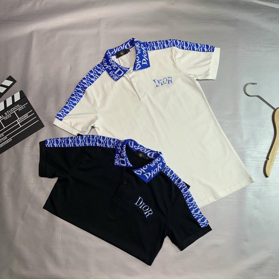 Áo thun cổ trụ_áo thun có cổ thêu logo nổi bật, chất liệu thun cotton 100% vải cực mát