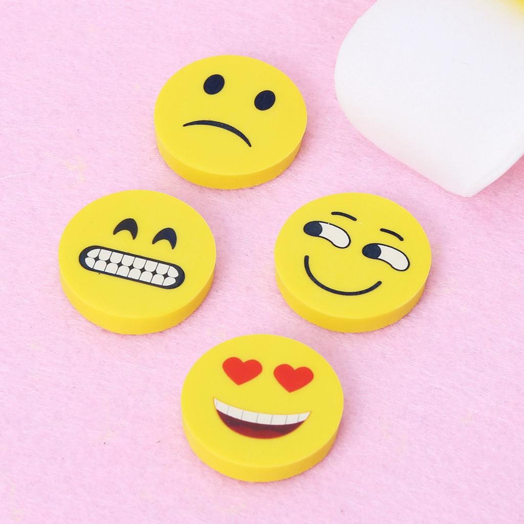 4pcs Emoji Smile Erasers Rubber Eraser Stationery School Study - 22145374 , 2900700556 , 322_2900700556 , 16000 , 4pcs-Emoji-Smile-Erasers-Rubber-Eraser-Stationery-School-Study-322_2900700556 , shopee.vn , 4pcs Emoji Smile Erasers Rubber Eraser Stationery School Study