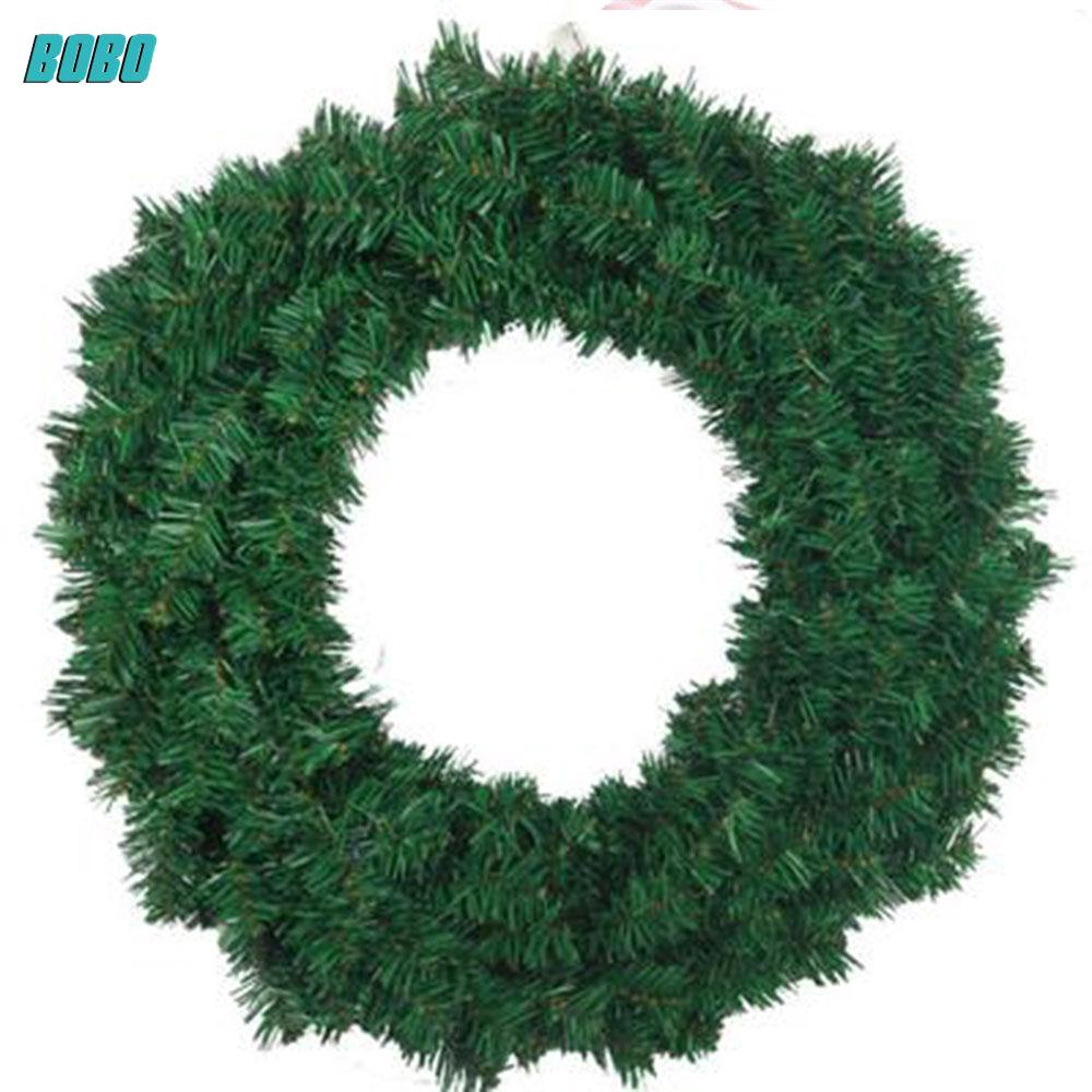 BoBo Handmade Christmas Wreath Green Door Window Garland Hanging Home Pendant