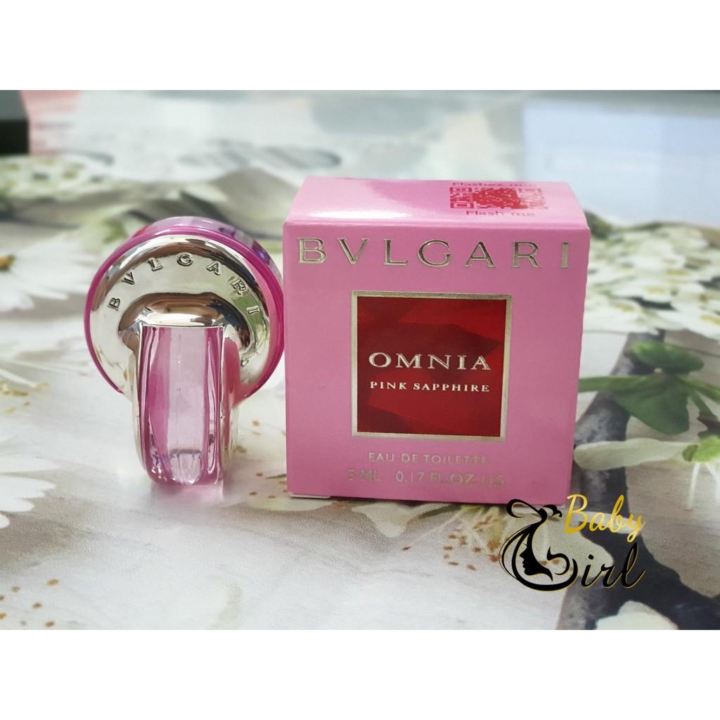 Nước hoa Bvlgari Omnia Pink Sapphire mini 5ml