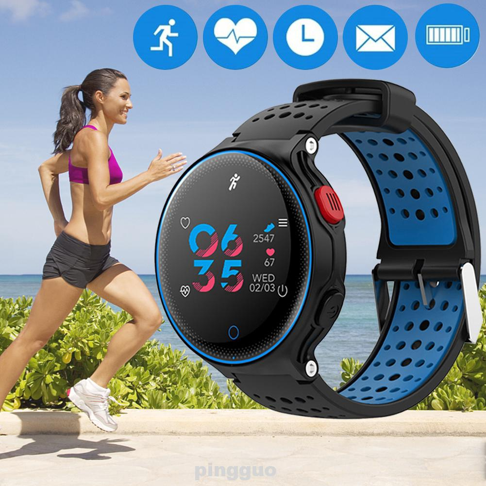 Smart Bracelet Waterproof Colorful Display Activity Tracker Adjustable Information Automatic Records
