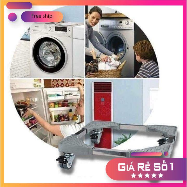 Chân kệ máy sấy, máy rửa bát, tủ lạnh, máy giặt có bánh xe