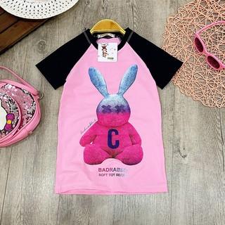 Quần áo bé gái [100% cotton] đầm thỏ raglan cho bé từ 8 đến 38kg