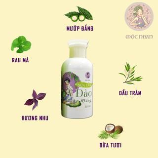Sữa tắm cho bé, ngừa rôm sẩy Ả Đào Sữa tắm em bé mướp đắng thiên nhiên, thơm,MỘC NHAN 350ml handmade 3