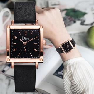 Đồng hồ nữ dây da mặt vuông dành cho nữ thumbnail