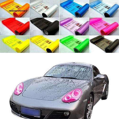 【SUCM】New Auto Car Fog Light Headlight Taillight Tint Vinyl Film Sheet Sticker Decal
