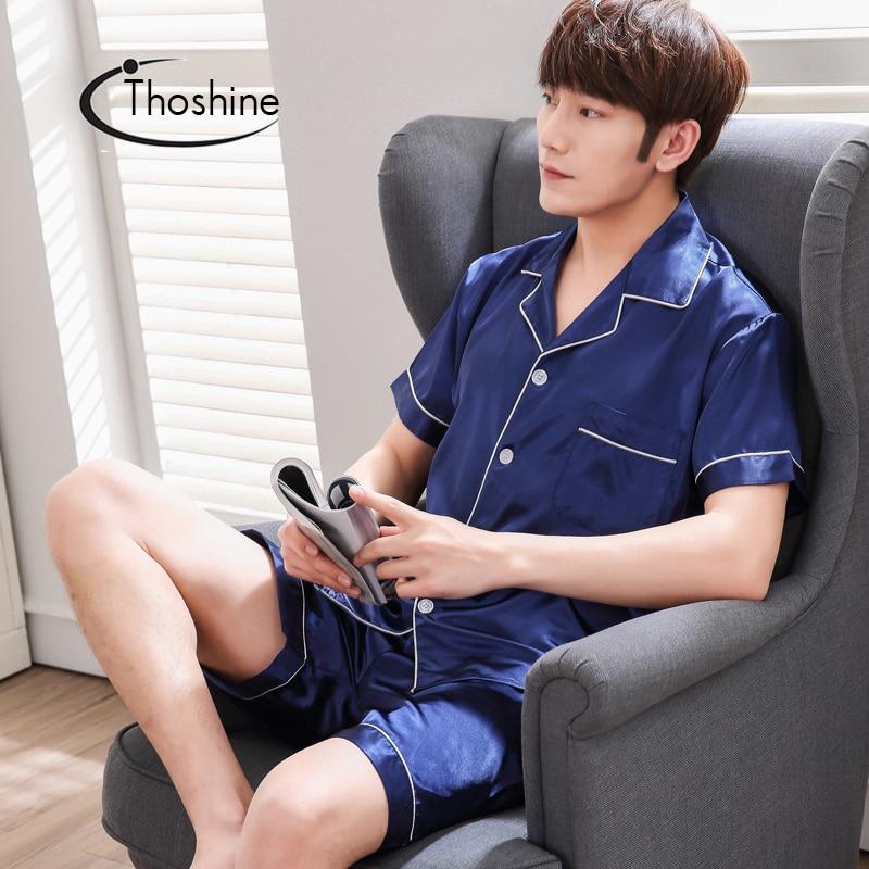 Bộ Đồ Ngủ Pijama Vải Satin Phong Cách Trung Hoa Cho Nam