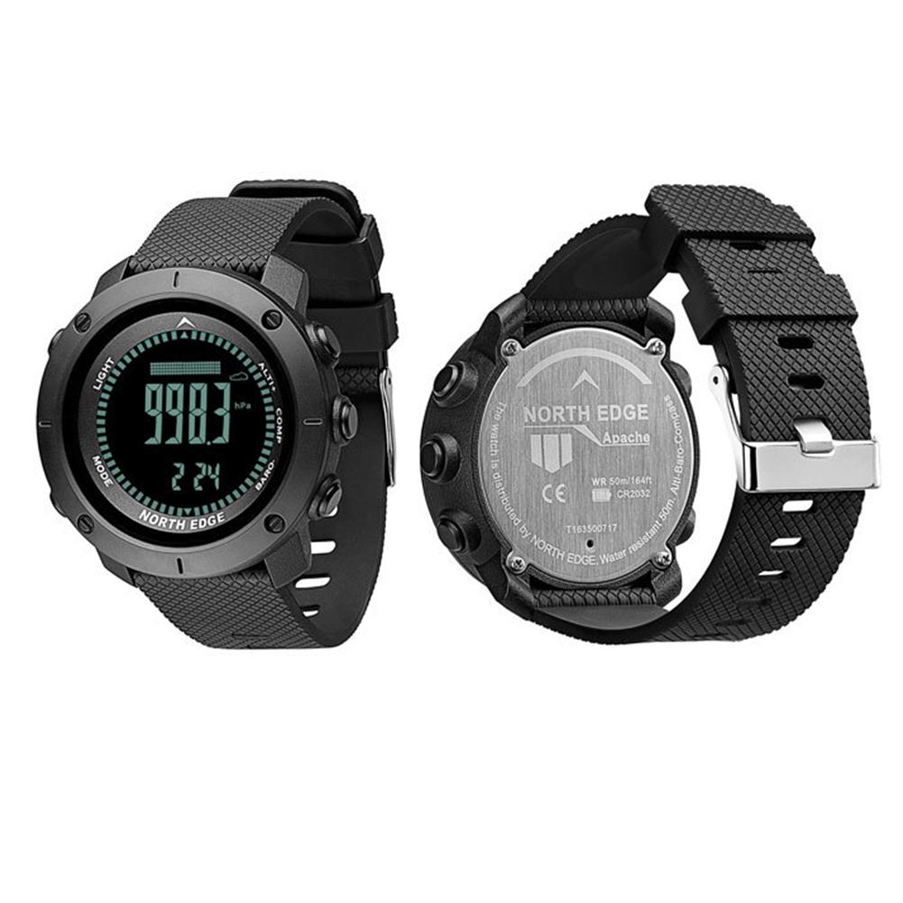 Men Hours Backlight Waterproof Outdoor Sports Multifunctional Digital Altimeter Round For North Edge