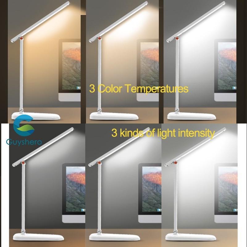 Đèn LED để bàn gấp gọn tiện lợi bảo vệ mắt