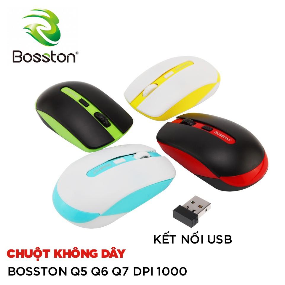 Chuột không dây Bosston Q5 Q6 Q7 DPI 1000 (Màu ngẫu nhiên)