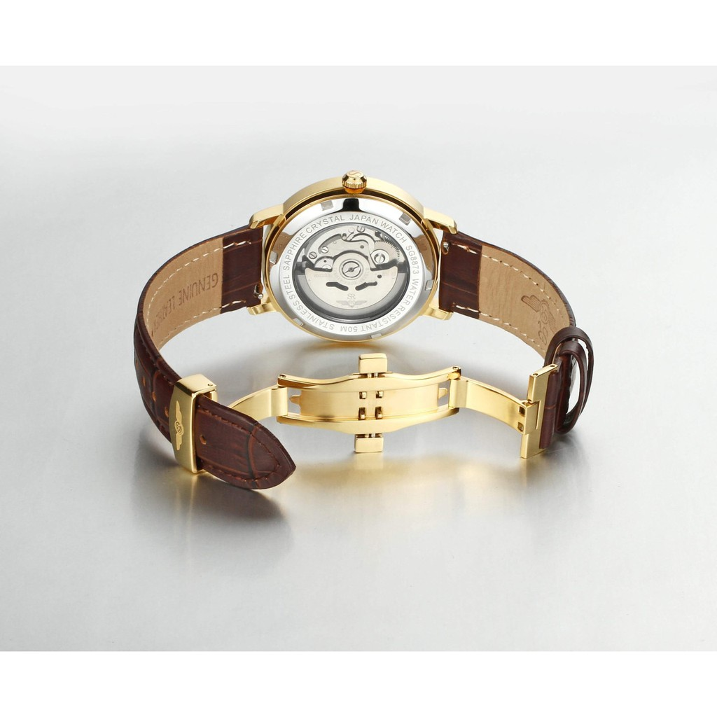 Đồng hồ nam SRWATCH Automatic Open Heart SG8872.4602RNT Mặt Kính Dome Sapphire cryst