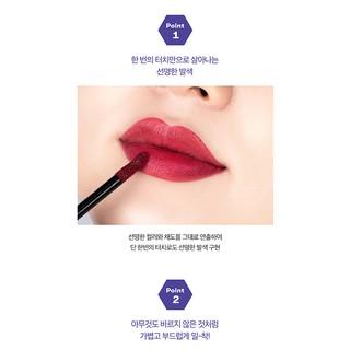 Son môi VT X BTS The Sweet Mousse Lip Fluid Màu 01 - Đỏ Nhung 4.5g-2