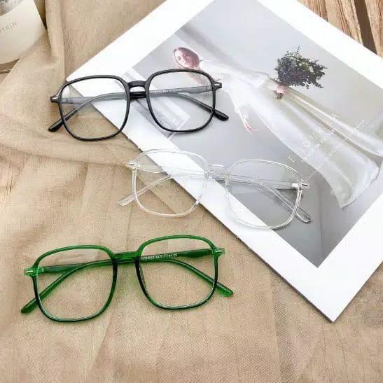 Mắt kính chống bức xạ trong suốt KM113 cho nam nữ