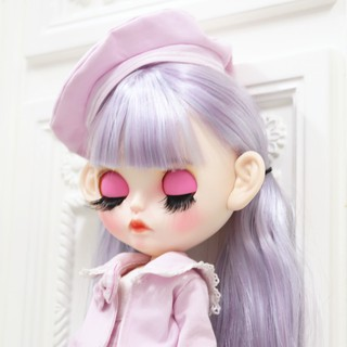 DBS blythe Doll Purple mixed hair color Carved lips customized Matte face Joint body 1/6 bjd