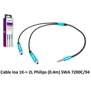 [Mã ELFLASH5 giảm 20K đơn 50K] Cáp chia âm thanh Philips SWA 7200c/94 từ 1 ra 2 tai nghe ( không mic )