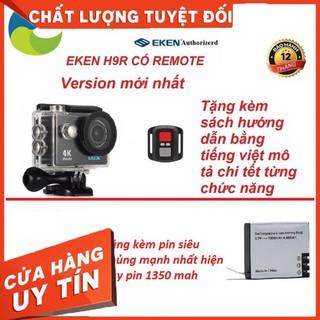 [SaleOff] Camera hành trình 4K wifi Eken H9R có remote version mới nhất 8.1 tặng kèm kính lọc đỏ và pin siêu khủng 13