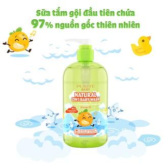 Combo Sữa Tắm Gội Purité Baby Cúc La Mã 500ml & Tinh Dầu Cam 500ml