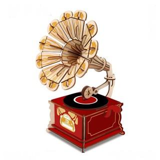 mô hình gỗ máy hát