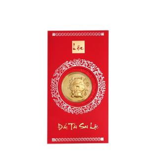 ANCARAT - Mặt vàng 24k Kim Sửu túi tiền Kèm bao lì xì - AG9992.Q002.01C