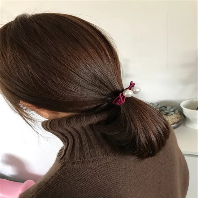 Sỉ 10 buộc tóc quấn nơ đính hạt 35k