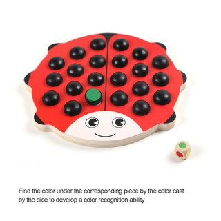 1 Pcs memory game early education toy scarab wood parent-child interaction block