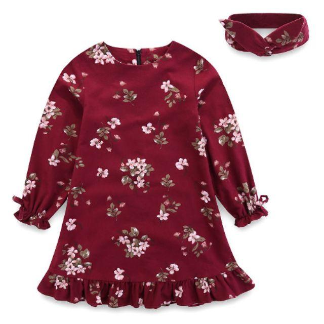 Váy dạ mỏng SHIJ kèm băng đô